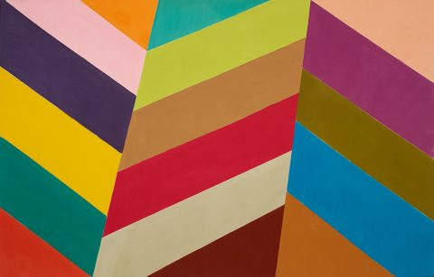 Zig-zag, 1967, Acrylic and polymer on canvas.