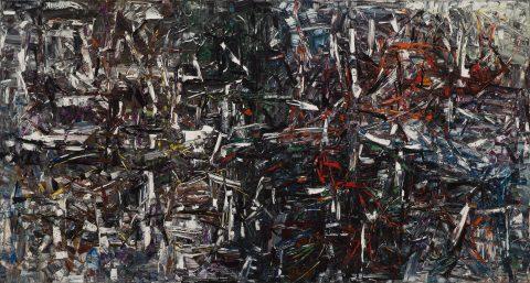 Rase-mottes, 1958, Jean-Paul Riopelle, Huile sur toile.