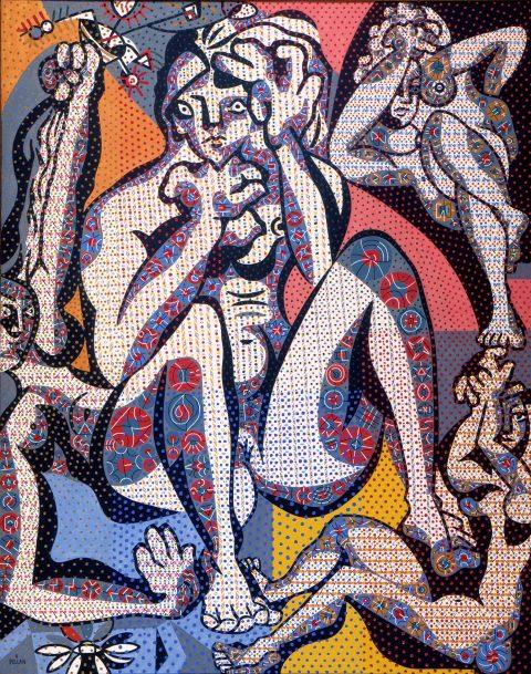 Quatre Femmes, 1944-1947, Alfred Pellan, Huile sur toile.