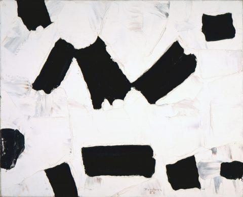 3+3+4, 1956, Paul-Émile Borduas, Huile sur toile.