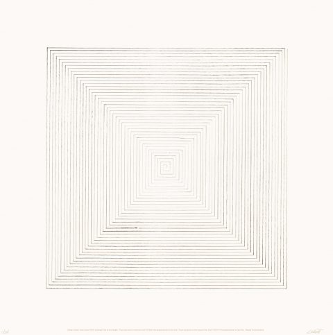 Five Lithograph Projects with Variations (tirée de l'album « Five Lithograph Projects with Variations »), vers 1970, Sol LeWitt, Lithographie, 15/25.
