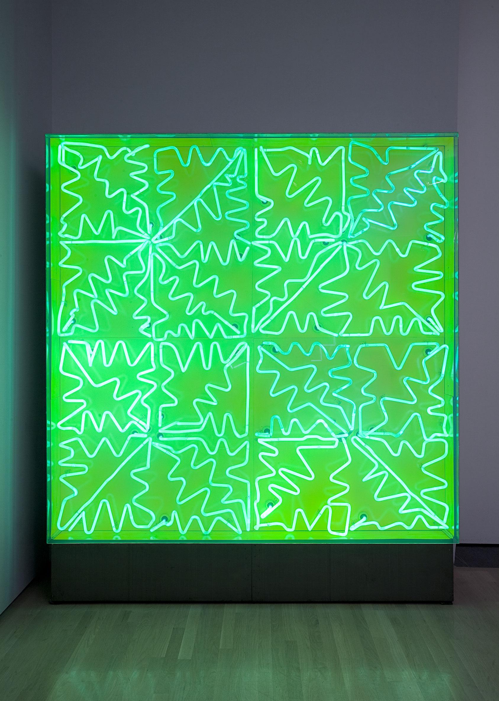 Ciboulette, 1968, Jacques Hurtubise, Panneau lumineux (néon vert).