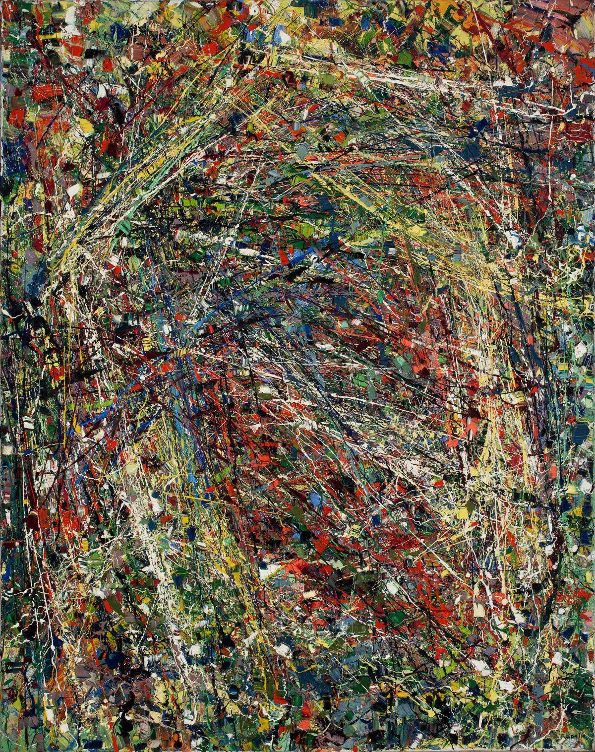 Sans titre, 1950, Jean-Paul Riopelle, Huile sur toile.