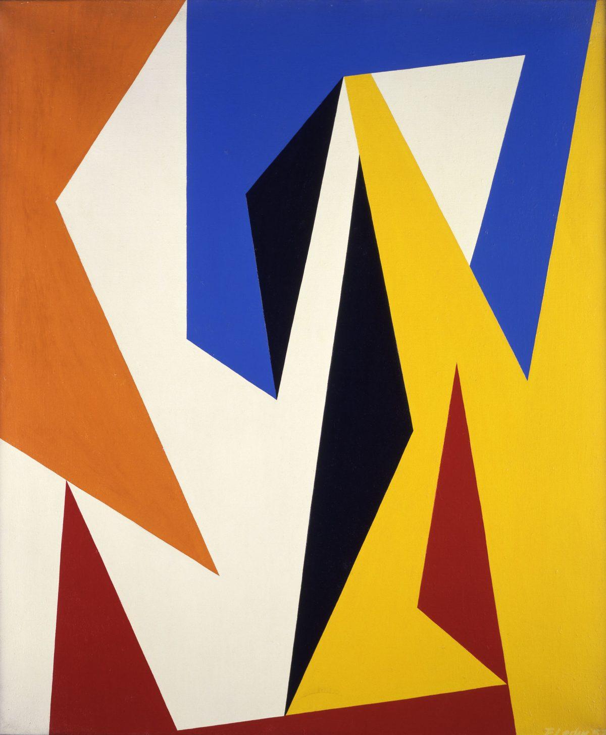 Delta, 1957, Fernand Leduc, Huile sur toile.