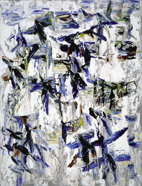Cheminement bleu, 1955, Paul-Émile Borduas, Huile sur toile.