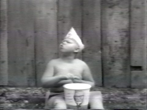 still of Pea Soup, 1978, Black and white video, sound, 94 min.