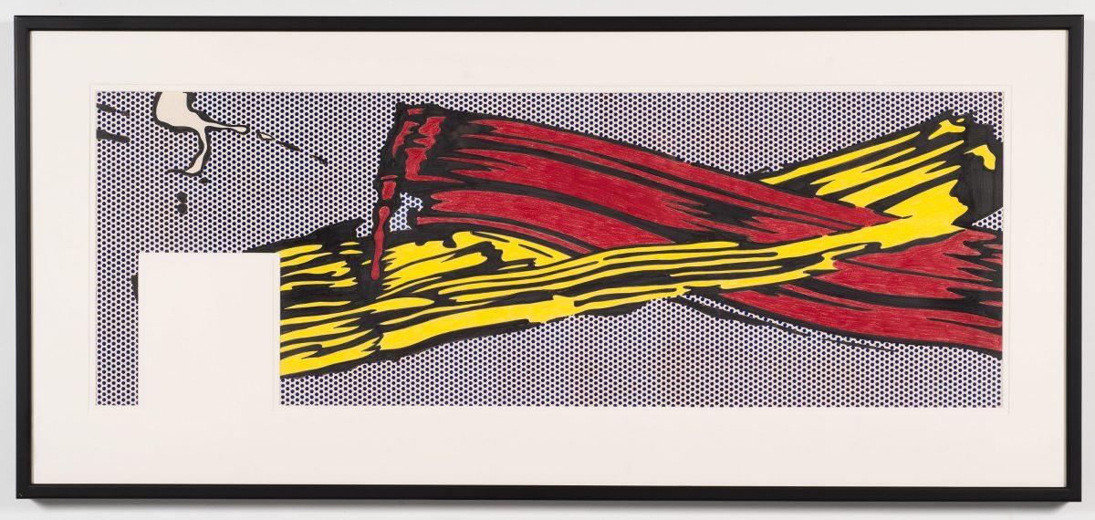 Brushstrokes, 1969, Roy Lichtenstein, Crayon-feutre, crayon de couleur, graphite et acrylique sur papier.