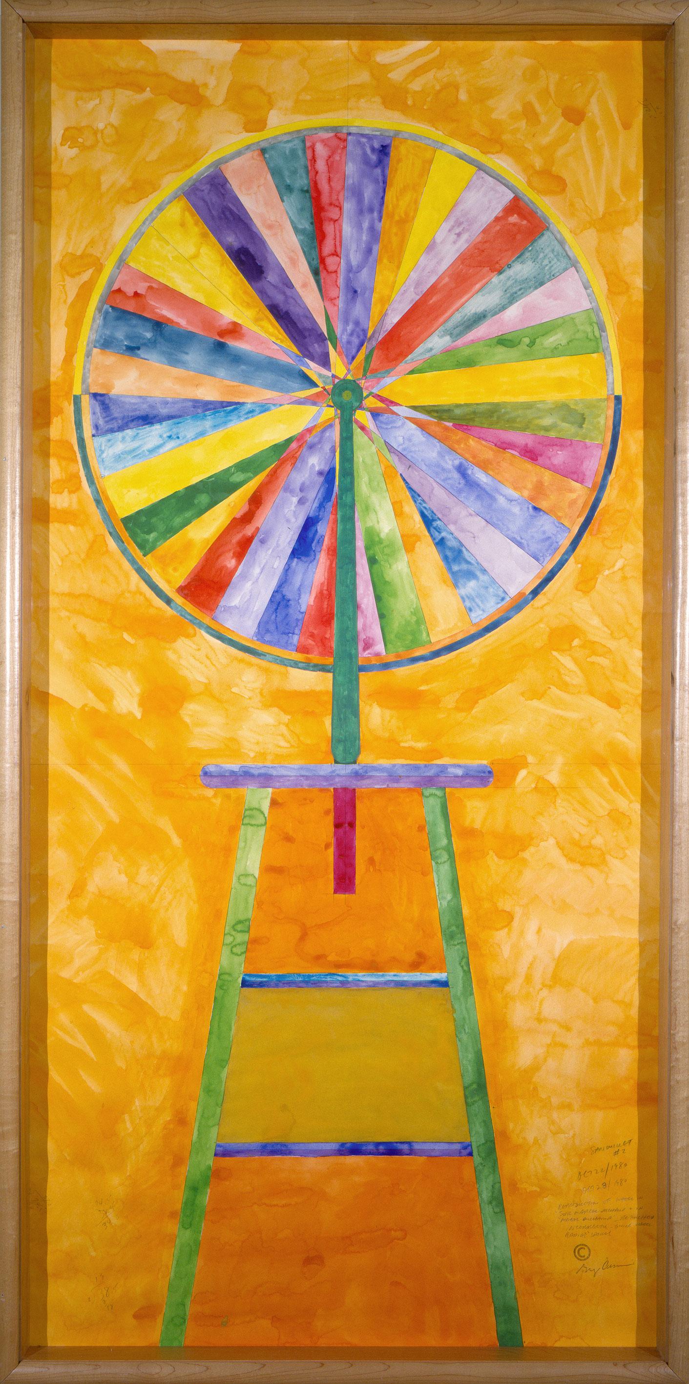 Sanouillet No. 2, 1980, Greg Curnoe, Aquarelle et graphite sur papier.