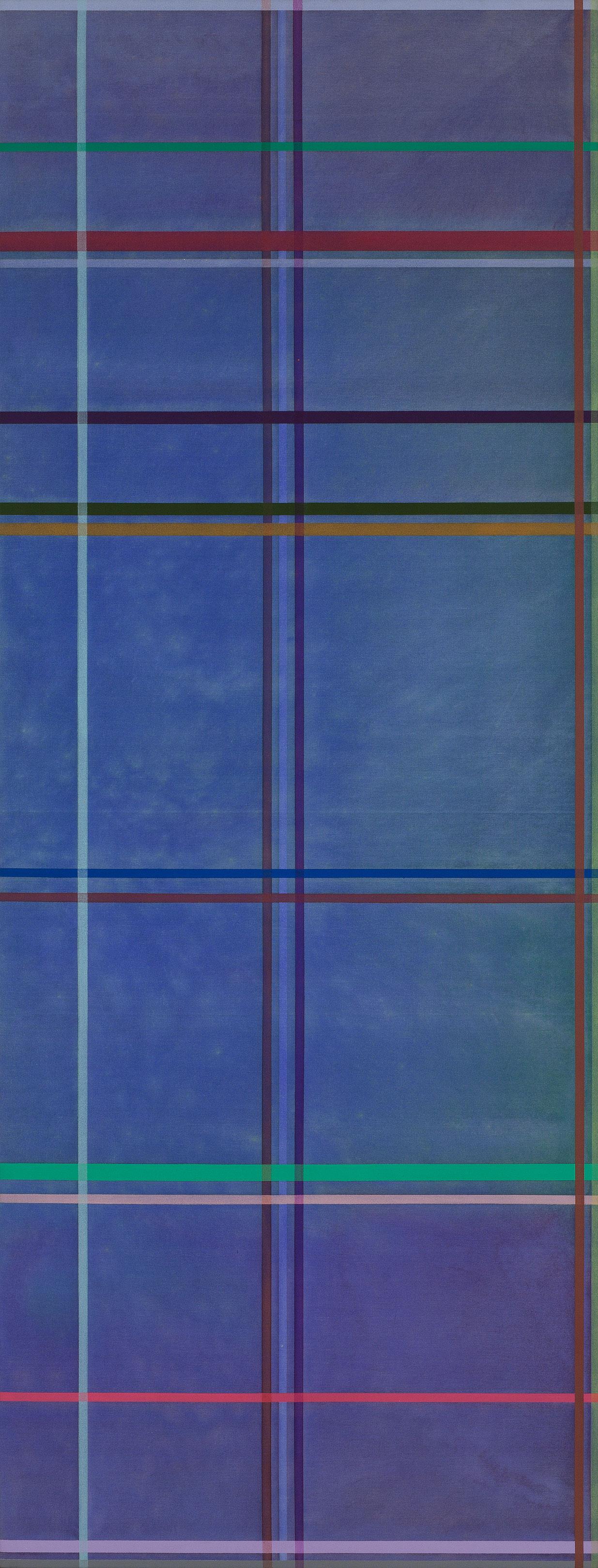 Tipperary Blue, 1971, Kenneth Noland, Acrylique sur toile.