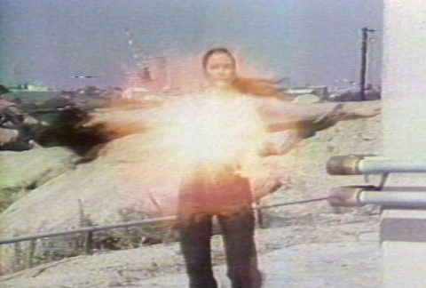 still of Technology Transformation: Wonder Woman, 1978, Colour video, sound, 7 min.