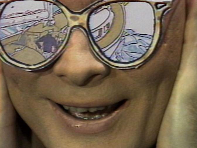 arrêt sur image de Sax Island, 1984, Eric Metcalfe et Hank Bull, Vidéogramme couleur, 11 min. 30 sec., son.