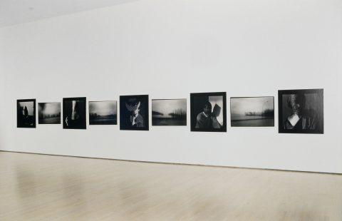 Debout sur le rivage, 1984, 9 gelatin silver prints.