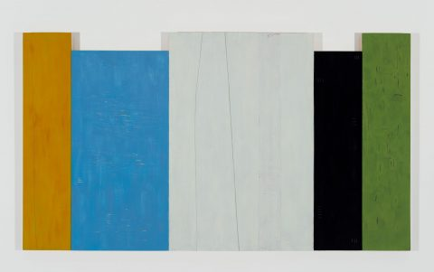 Implications of White, 1984-1985, Oil, plaster, metal, cement and wax on wood.