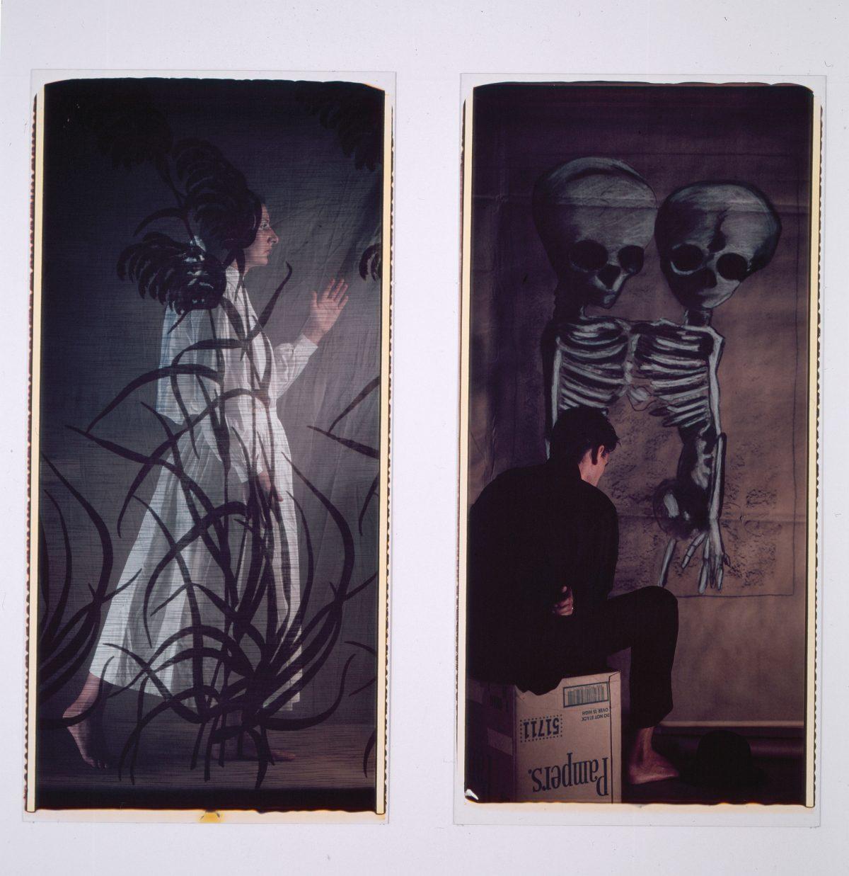 Modus vivendi, 1985, Abramovic et Ulay, 2 épreuves Polaroid couleur.