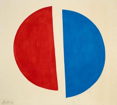 Split Circle No. 2, 1961, Jack Bush, Huile sur toile.