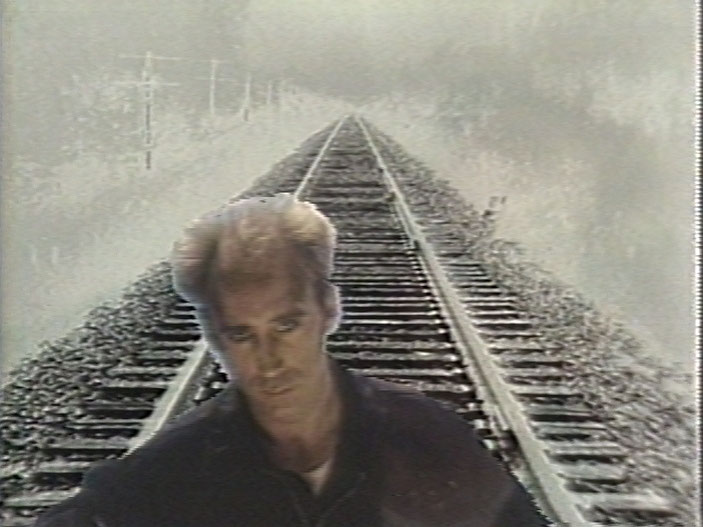 still of Le Train, 1985, Colour video, sound, 5 min 45 s.