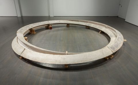 Smoke Rings: Two Concentric Tunnels, Skewed and Noncommunicating, 1980, Plaster and wood.