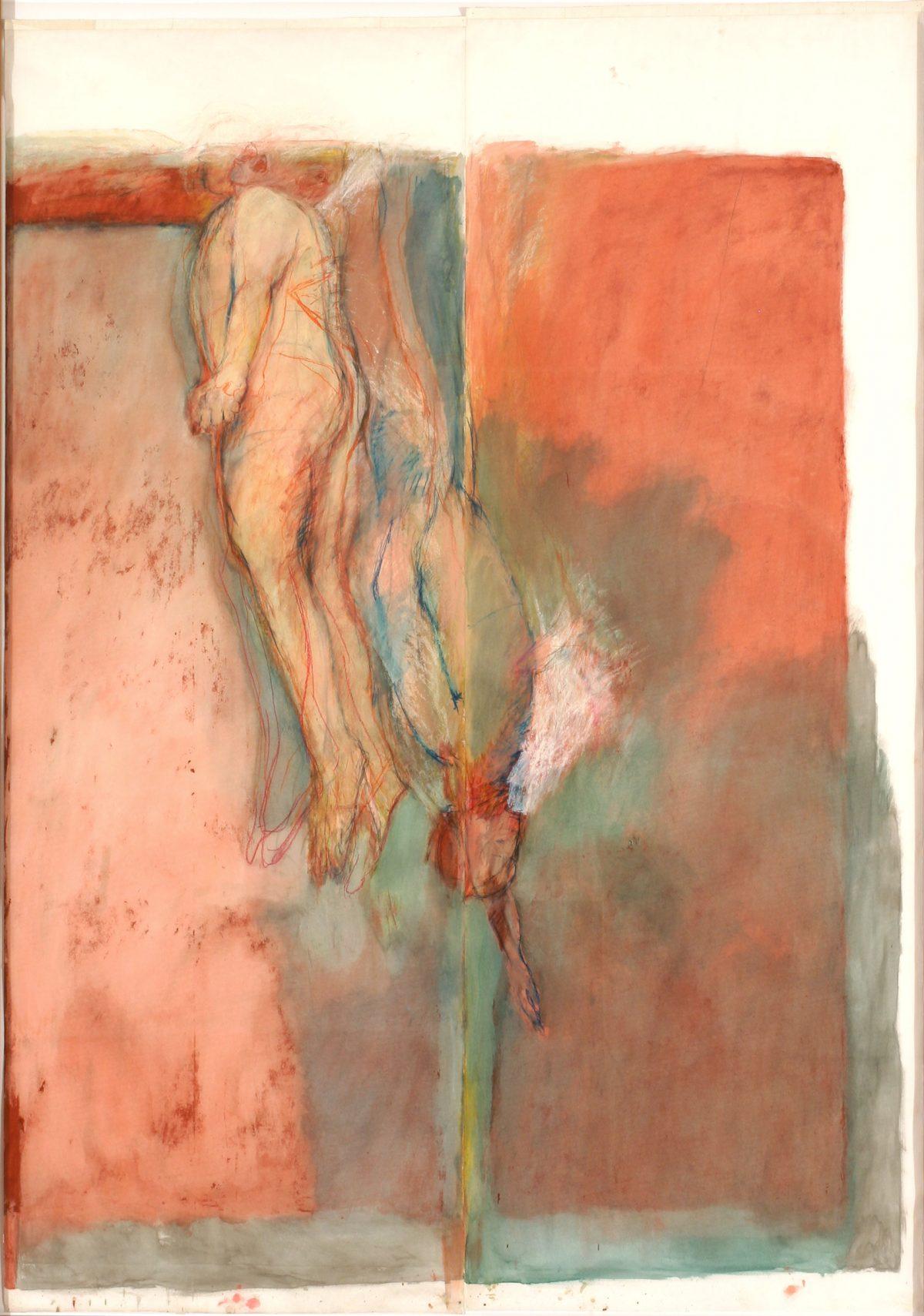 Red Sea, 1984, Betty Goodwin, Pastel à l'huile, pastel sec, huile et fusain sur papier vélin.
