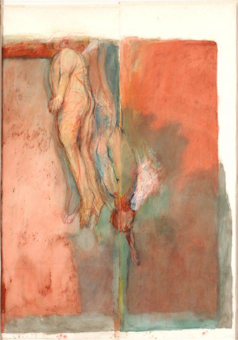 Red Sea, 1984, Oil pastel, dry pastel, oil and charcoal on velum paper.