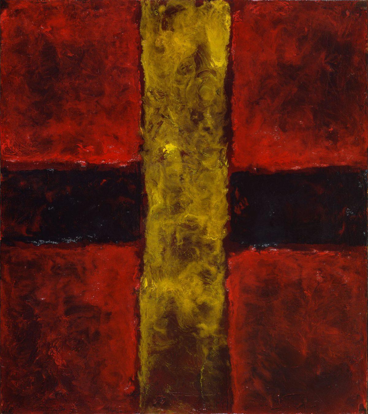 Drapeau inconnu, 1963, Oil on canvas.