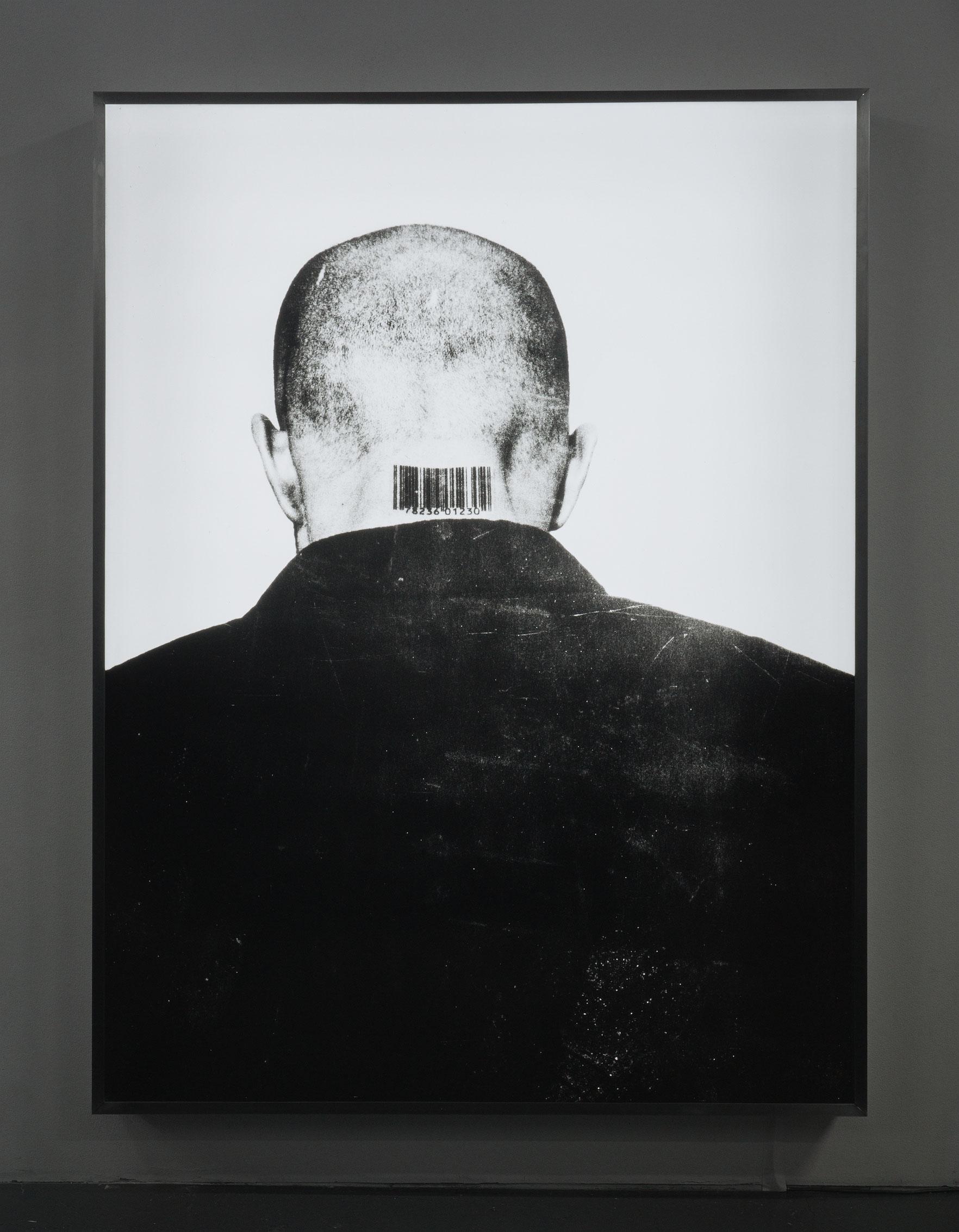 Generic Man, 1987-1989, tirage de 2002, Jana Sterbak, Diapositive d'étalage Duratran et boîtier lumineux.