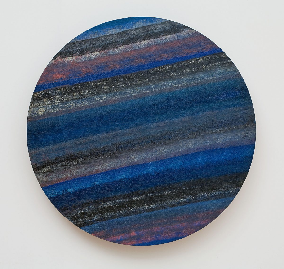 Espace temps modulations bleues, 1963, Jean-Paul Mousseau, Huile sur contreplaqué.
