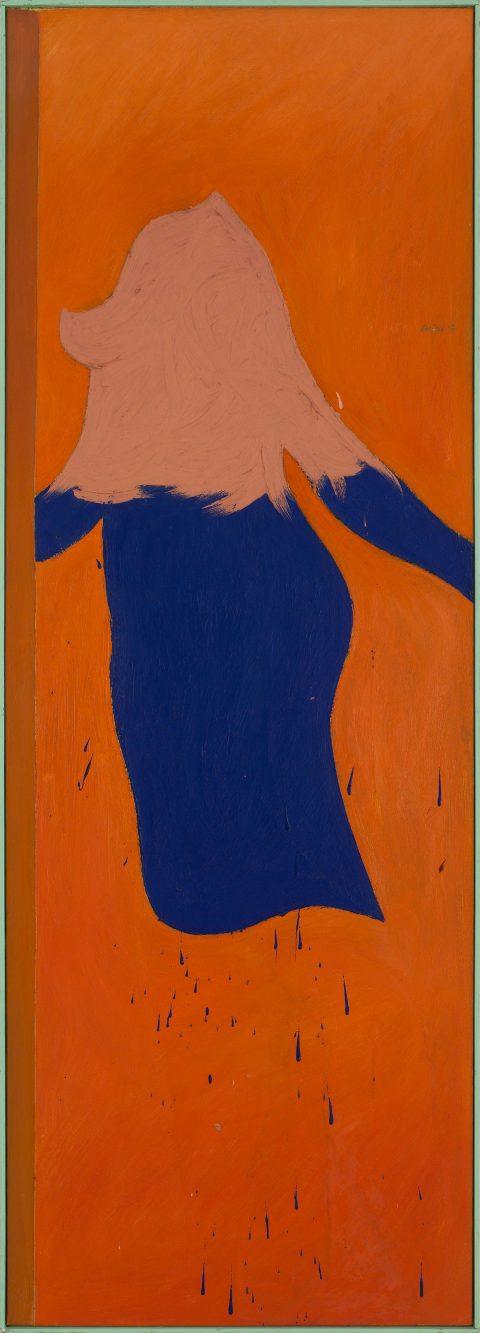 Coat of Blue, 1962, Michael Snow, Huile sur toile.