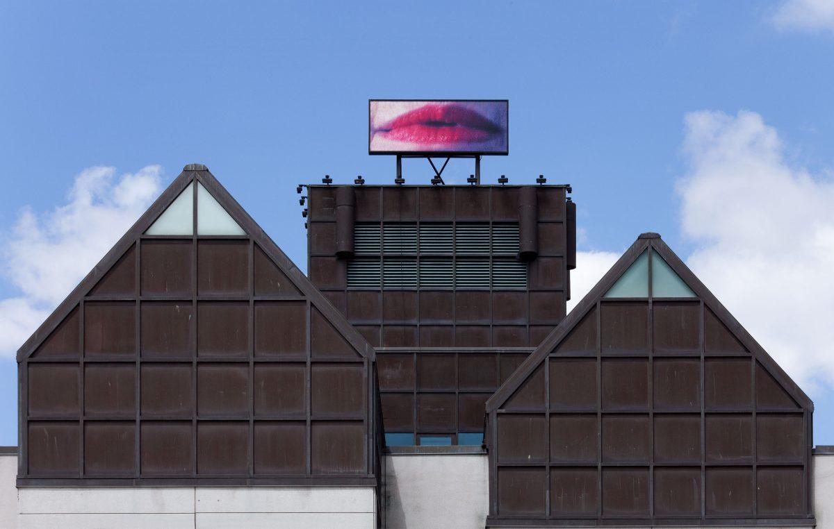 La Voie lactée, 1992, Geneviève Cadieux, Panneau lumineux, boîtier d'aluminium, procédé informatisé d'impression par jet d'encre sur toile translucide et flexible imprimée au recto seulement, 1/2.
