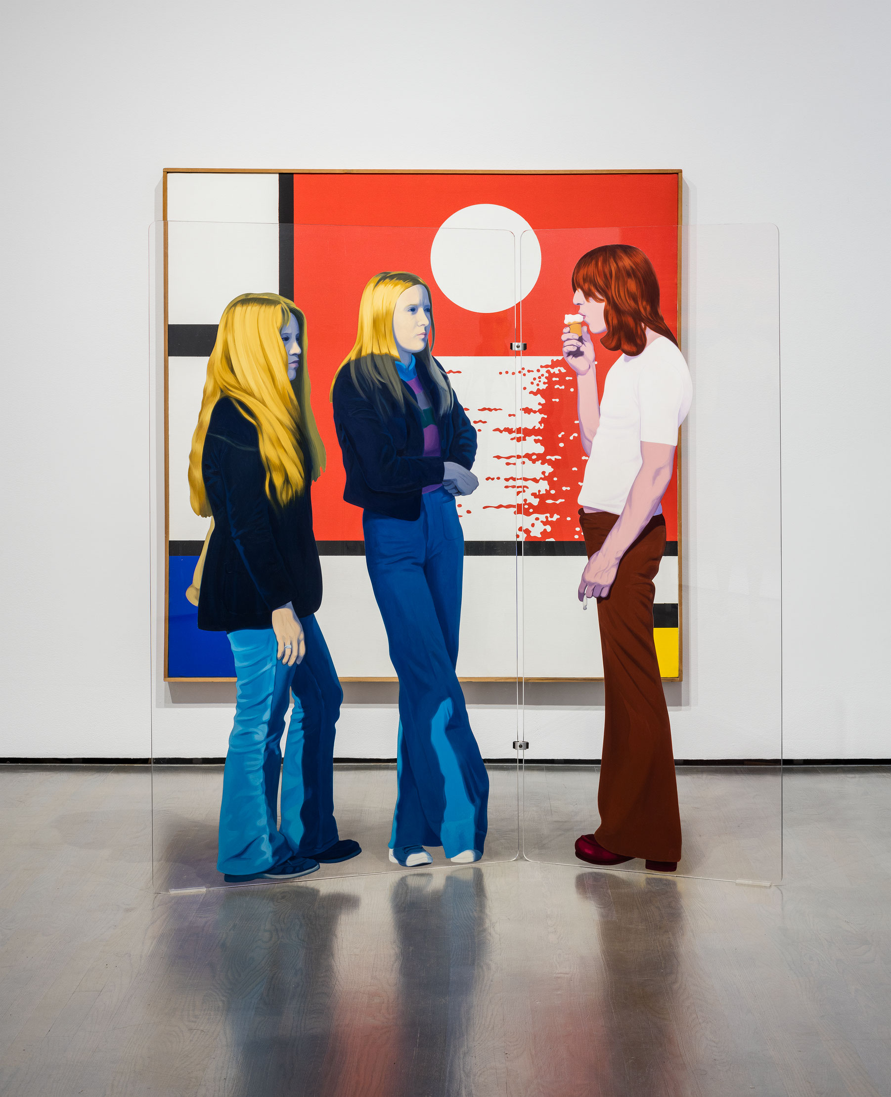Mondrian au coucher, 1973-1974, Edmund Alleyn, Acrylique sur toile et huile sur plexiglas.