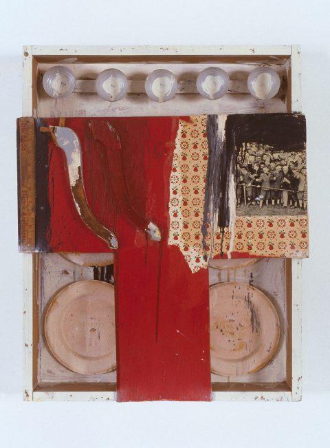 Boîte nº 4, 1962, Charles Gagnon, Collage de matériaux divers.