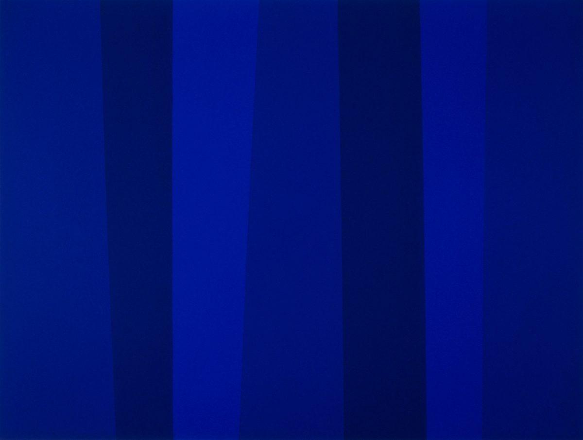 Quantificateur bleu 12/93, 1993, Guido Molinari, Acrylique sur toile.