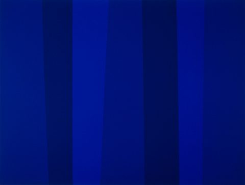 Quantificateur bleu 12/93, 1993, Acrylic on canvas.