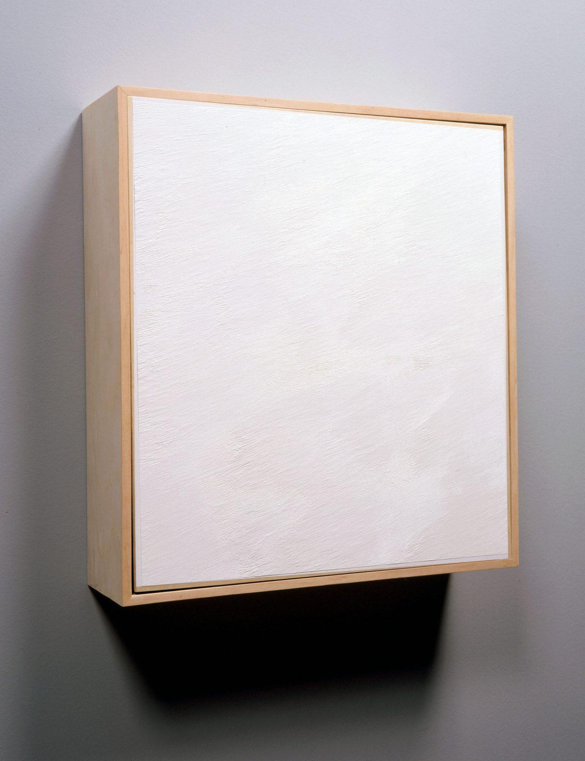 2: 39, 32: 55, 11: 18, 1999, Stéphane La Rue, Acrylique sur bois, 3 éléments.