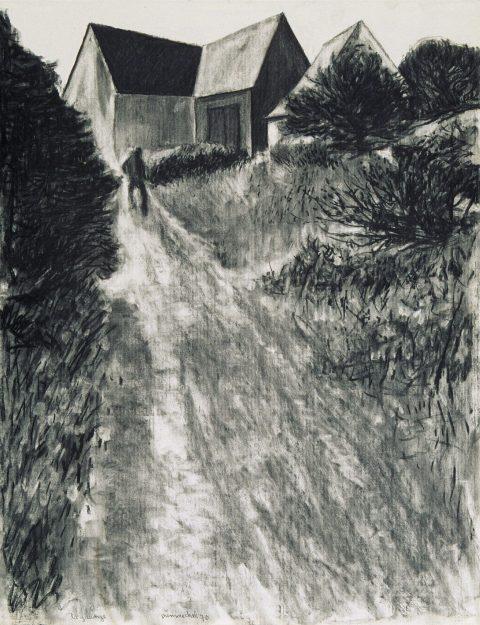 Le Voyage d'hiver, 1970, Albert Dumouchel, 26 fusains sur papier.