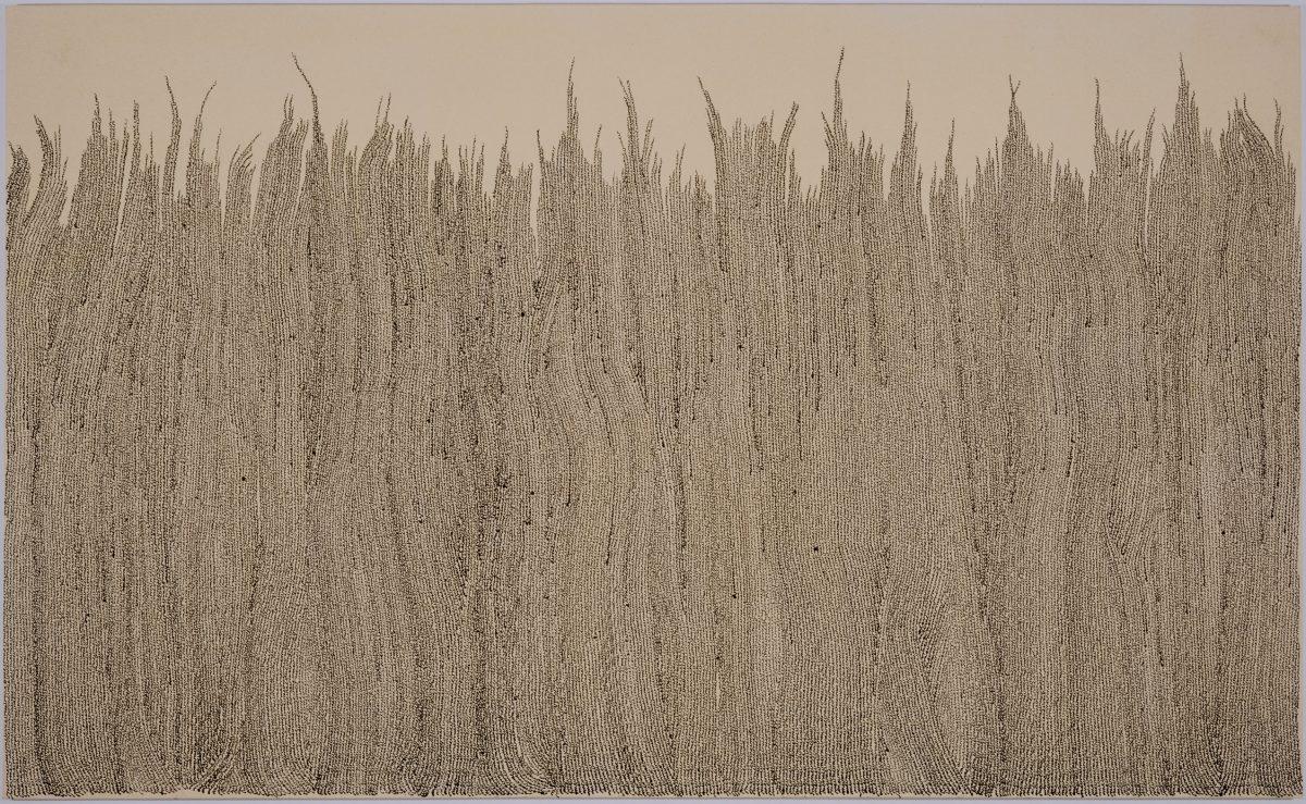 «mcb» les blés, 1999, Marie-Claude Bouthillier, Encaustique et vernis polymère sur toile.