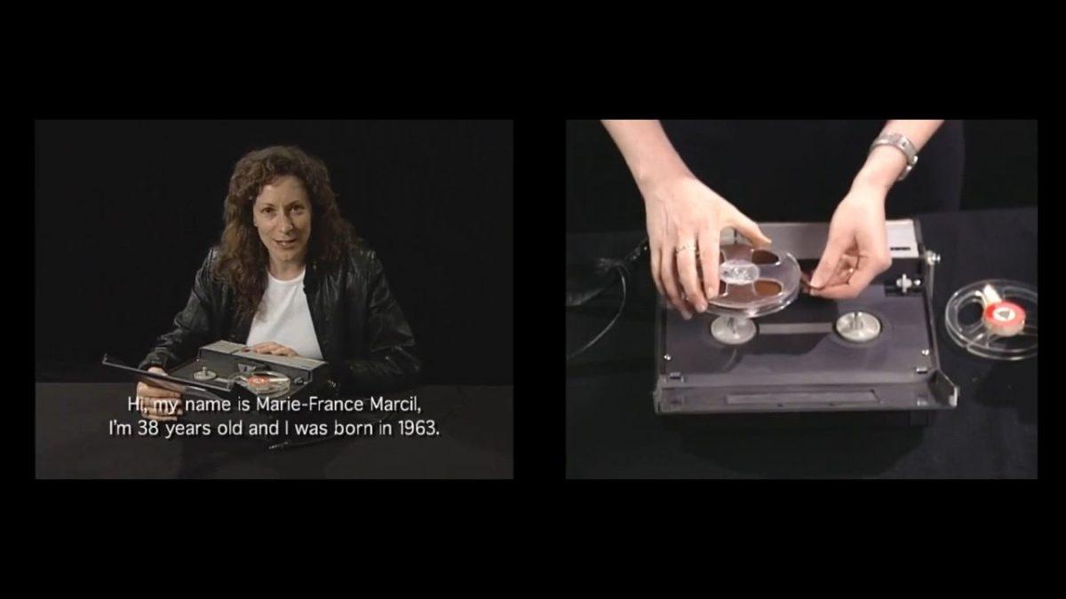 still of Hors d'usage: le récit de Marie-France Marcil, 2002, 2 colour DVDs, sound, 11 min 32 s, 1/2.