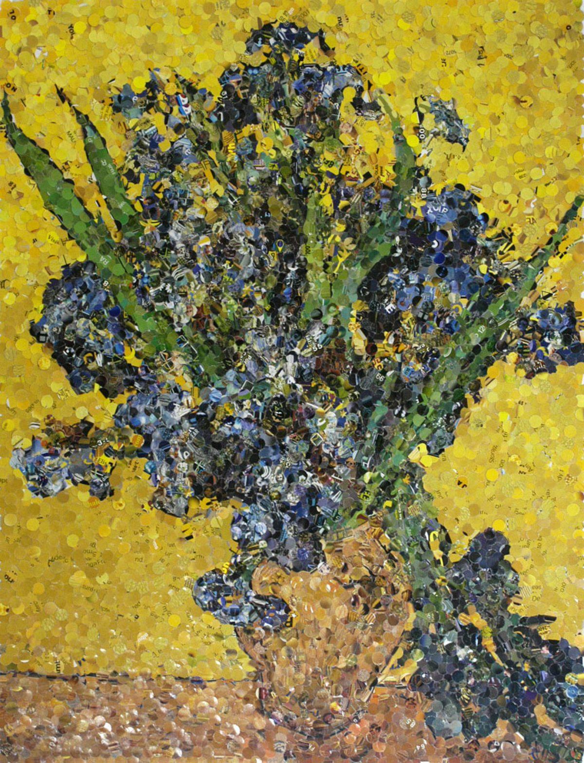 Irises, after Van Gogh (from Pictures of Magazines), 2004, Vik Muniz, Épreuve à développement chromogène, 5/6.