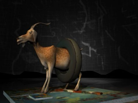 still of After Monogram, 2003, 3D animation film, colour, sound, 4 min, 1/3.