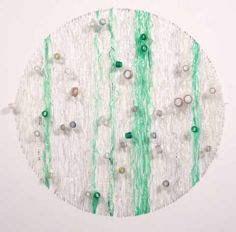 Marine Saint-Jean-Port-Joli 2, 2001, Plastic bottles and staples.