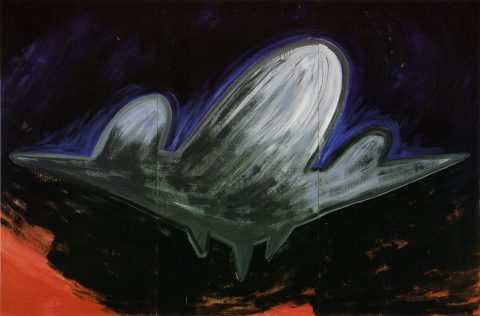 Airplane, 1983, Wanda Koop, Acrylique sur contreplaqué.