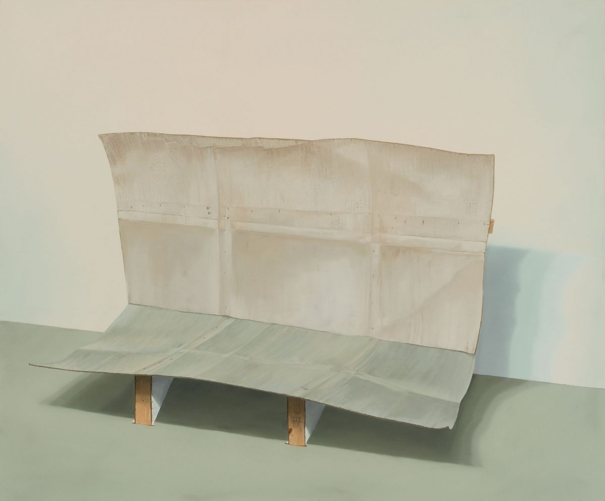 Maquette of Wall and Floor, 2008, Anthony Burnham, Huile sur toile.