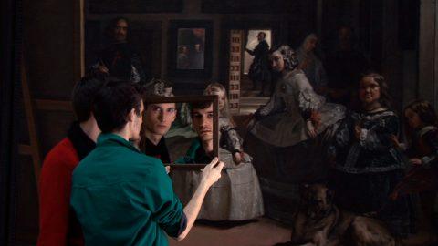 Two Mirrors, 2008, Adad Hannah, Vidéogramme haute définition, projection en boucle, 6 min 36 sec., E.A. 1/2.