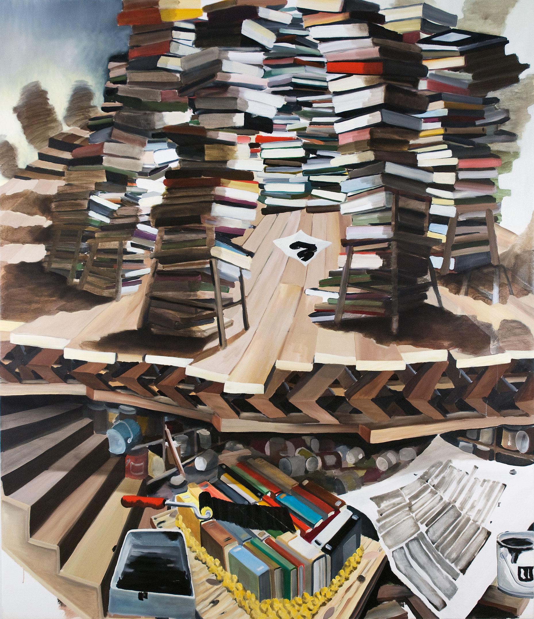Marked, 2008, Etienne Zack, Acrylique et huile sur toile.