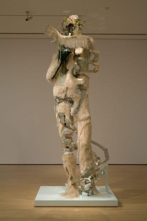 Le Berger, 2008, David Altmejd, Bois, contreplaqué, mousse de polyéthylène rigide, mousse de polyuréthane expansée, crin de cheval, cristaux, peinture, fils de fer, fils de laiton, perles de verre.