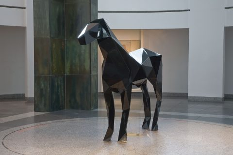 Le Cheval, 2009, Painted steel.