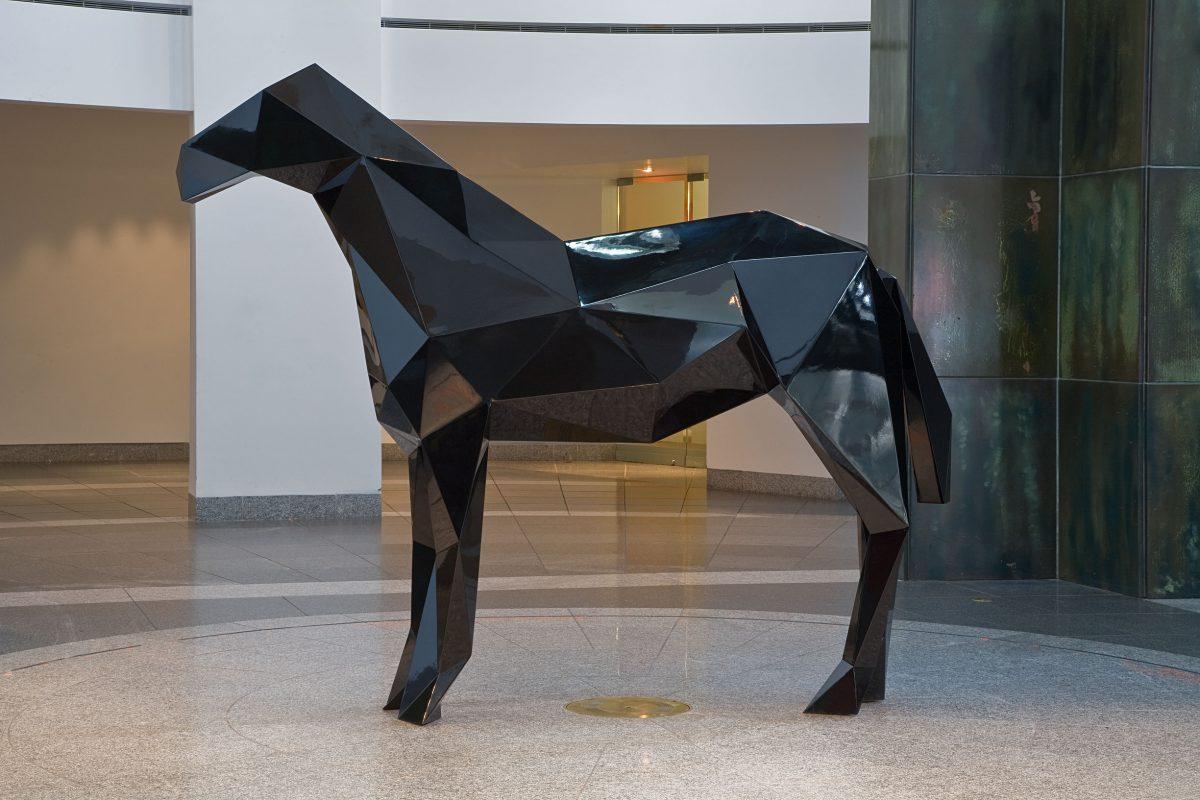 Le Cheval, 2009, Xavier Veilhan, Acier peint.