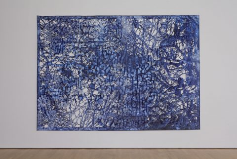 Eclipsing the Past, Present and Future, 2008, Ink on cut 3M reflecting material and Shoji paper.