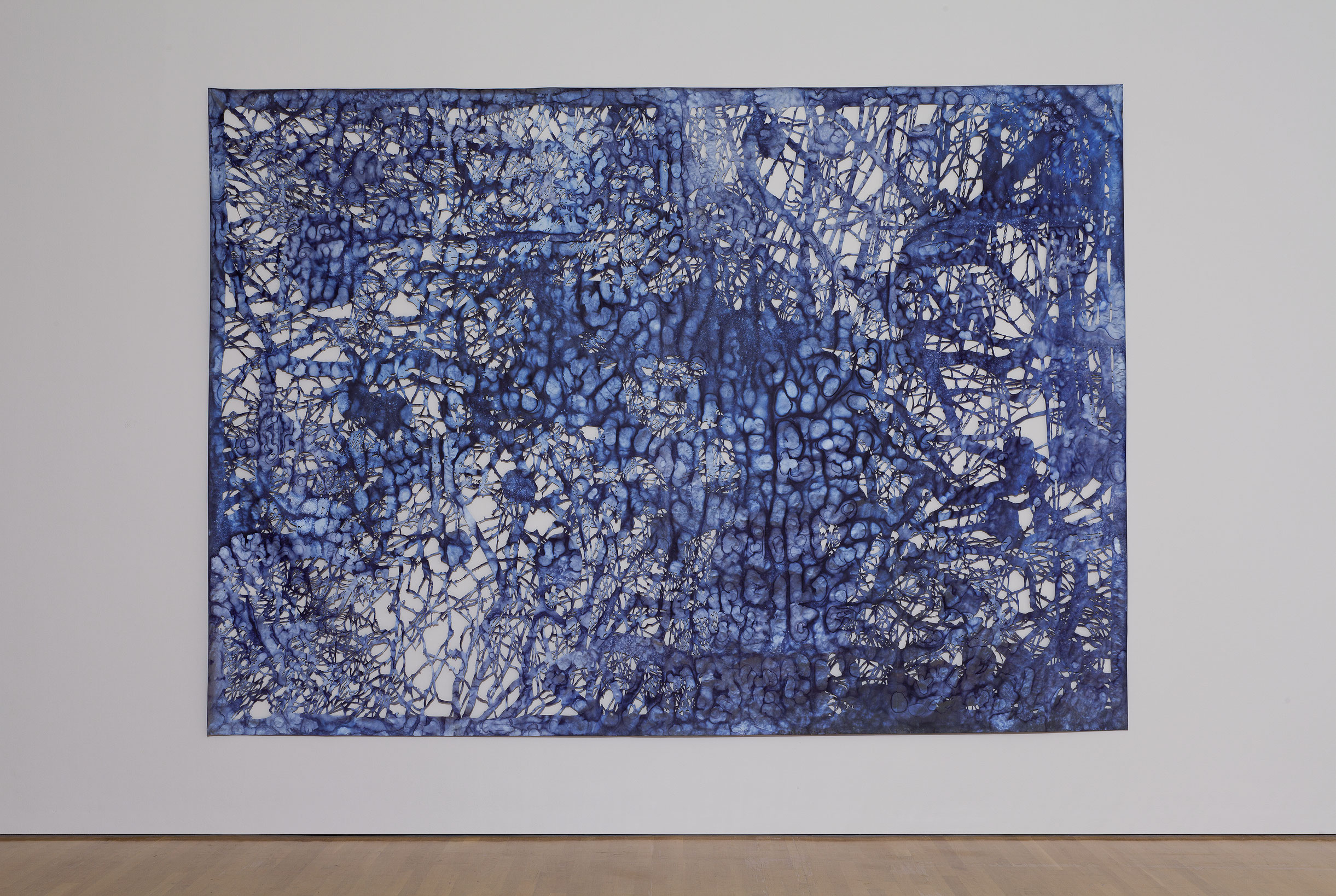 Eclipsing the Past, Present and Future, 2008, Ed Pien, Encre sur matériau réfléchissant 3M et papier Shoji découpés.