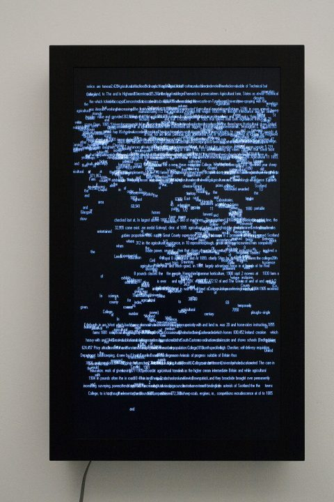 1911, 2006, Computered data projected on a flat screen, 3/5.