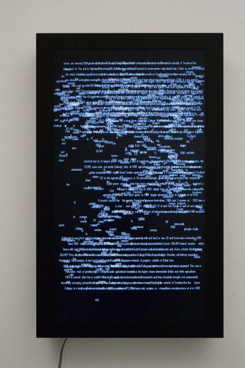 1911, 2006, Charles Sandison, Projection de données programmées par logiciel sur écran plat, 3/5.